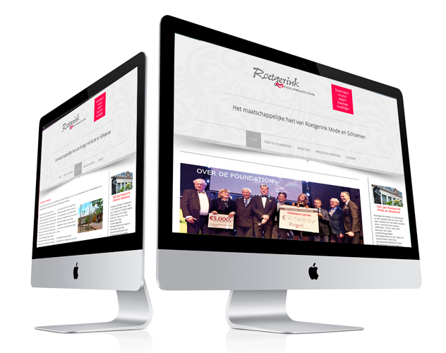 Website voor Roetgerink Foundation